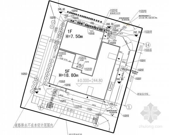 [重庆]大学教学楼给排水消防施工图