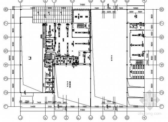 [佛山]某4S店汽车展厅空调平面图