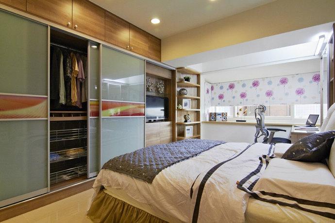 115平方米现代简约儿童房背景墙装修效果图_13