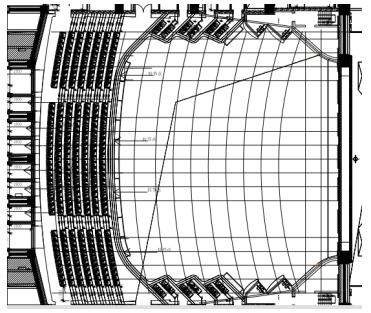 甘肃文化艺术中心场馆观众厅GRG氟碳喷涂满堂架搭设方案(四层钢框架支撑+钢砼框剪结构)_3