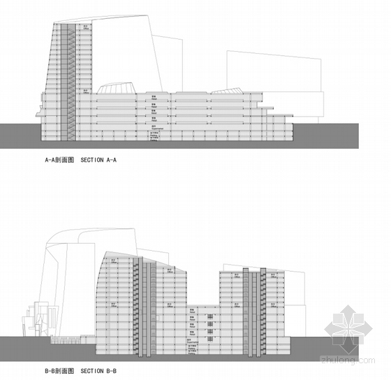 城市规划剖面图
