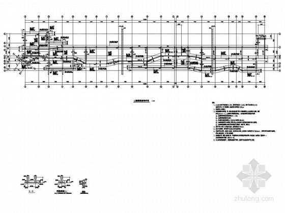 [江西]两栋地上二层框架结构商业楼结构施工图