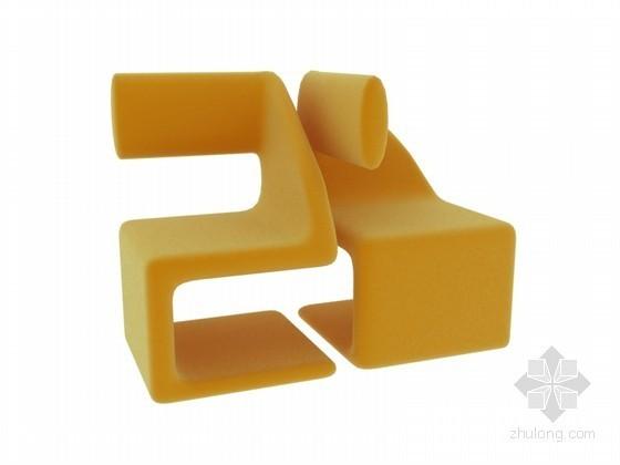 时尚个性椅子3D模型下载