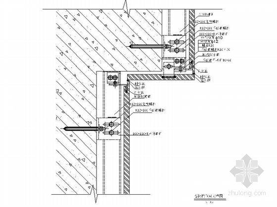 [安徽]时尚售楼处室内设计装饰CAD施工图(含效果)石柱节点详图