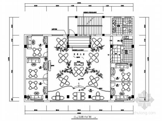 中式风格休闲茶楼室内施工图