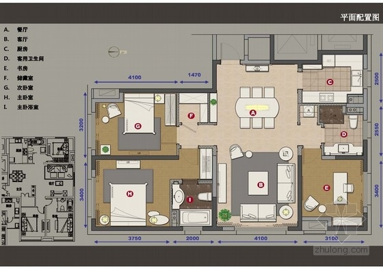 [青岛]现代风格两室一厅样板间汇报提案