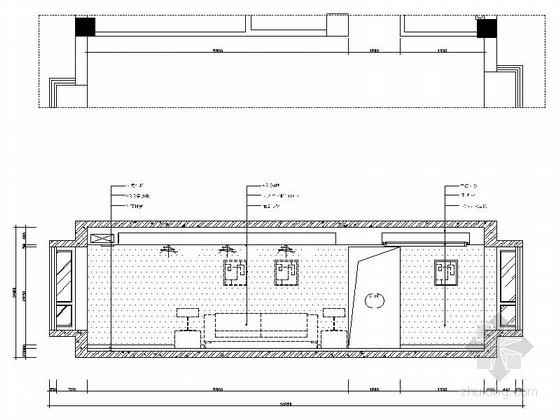 [安阳]风景秀丽小高层现代三居室装修施工图客厅立面图