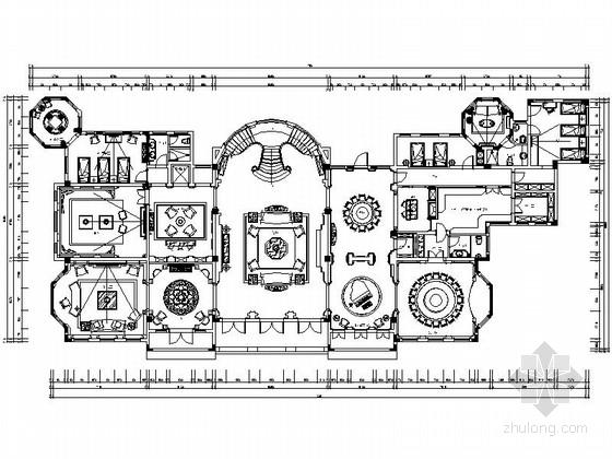 [重庆]知名地产三层私人豪宅欧式风格设计施工图(含效果图)
