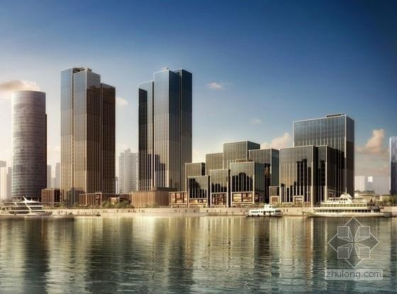 [上海]大型知名金融中心建筑群南北区单体建筑施工图纸(国外知名建筑师设计)
