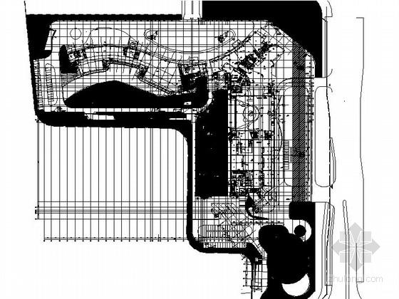 [福建]113米现代风格全球连锁知名酒店建筑-21层现代风格全球连锁知名酒店首层平面图