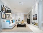 [深圳]现代简约小清新两居室装修设计施工图(含效果图)