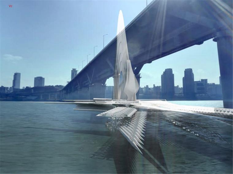 乌兰木伦河上的旋转大桥-5