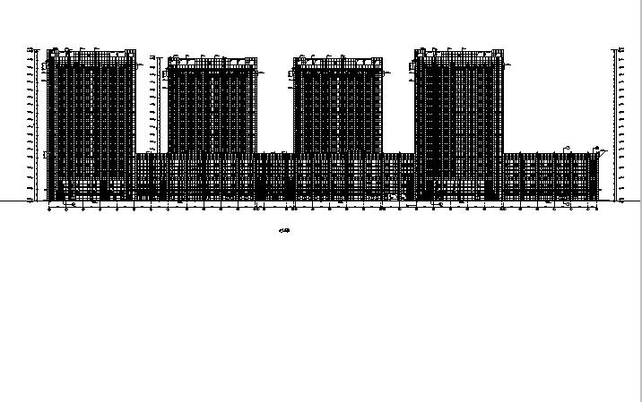 [内蒙古]高层框架结构办公、公寓及商业餐饮建筑施工图_1