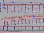 全宽60米25x30米预应力混凝土组合箱梁桥桥型总体布置图(桩柱式墩台和肋板式桥台)
