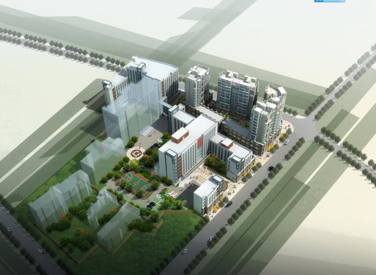 [湖南]高层现代风格综合性医院建筑设计方案文本(含CAD)