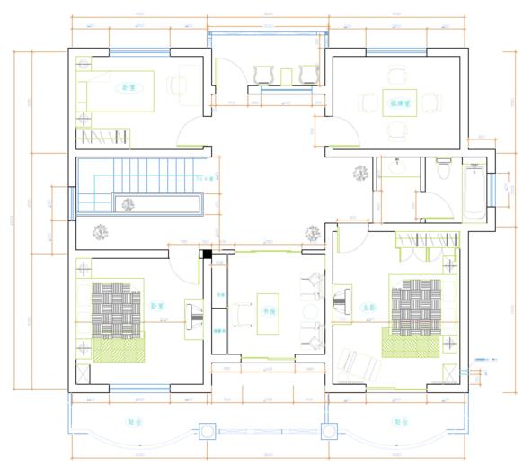 一套农村两层小别墅建筑方案图,寻求建筑结构施工图