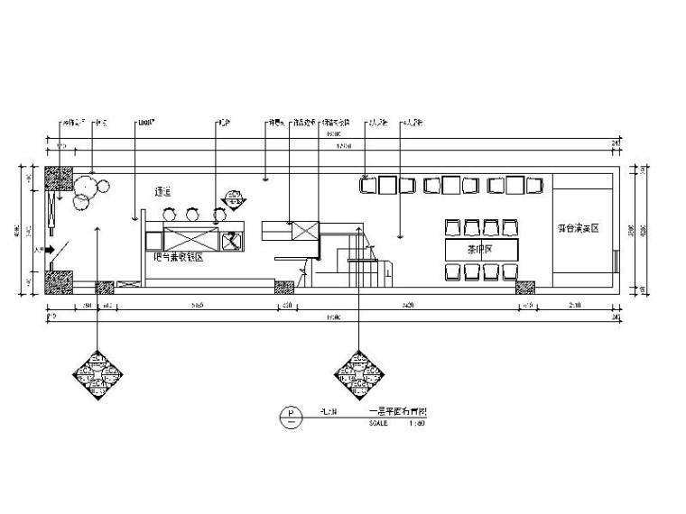 清新简约咖啡厅设计完整施工图