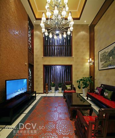 西安具有东方韵味得别墅设计-绿地世纪城样板间_2