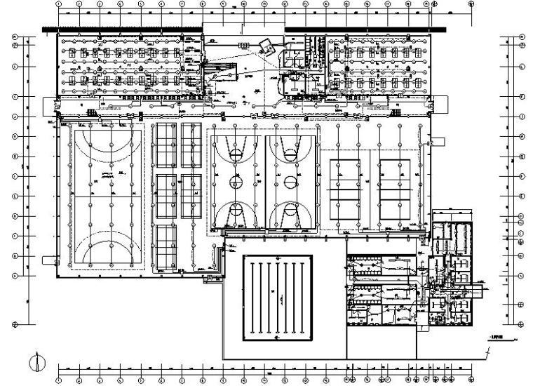 [上海]东华大学松江校区体育中心全套电气施工图
