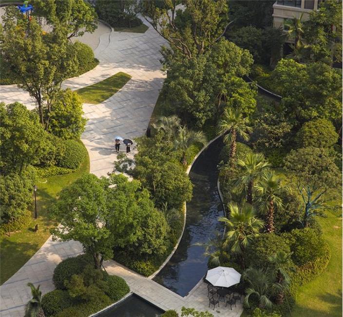 杭州融创瑷颐湾住宅景观的实景图 (6)