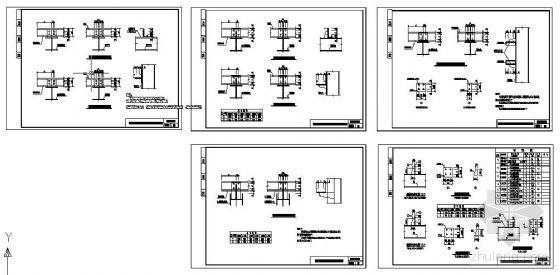 门式刚架之C型钢檩条与梁柱连接详图