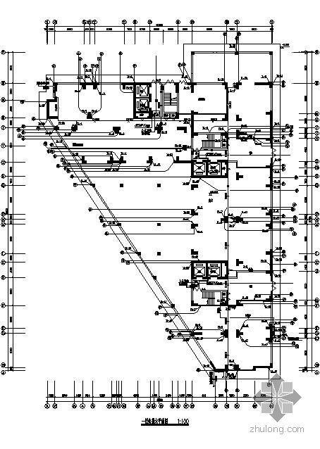 广东某十六层商住楼给排水图纸