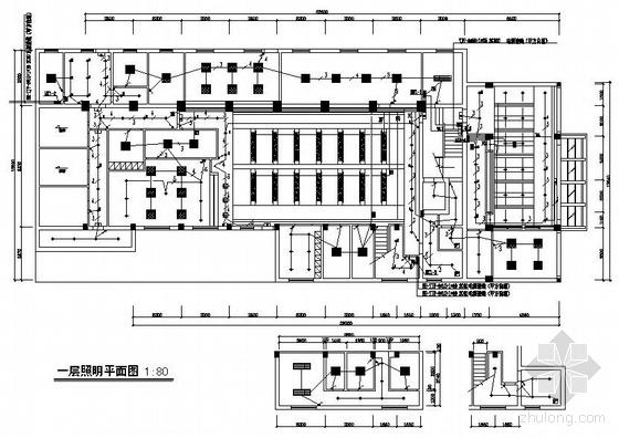 杭州某四层公安局办公楼装修电气图纸