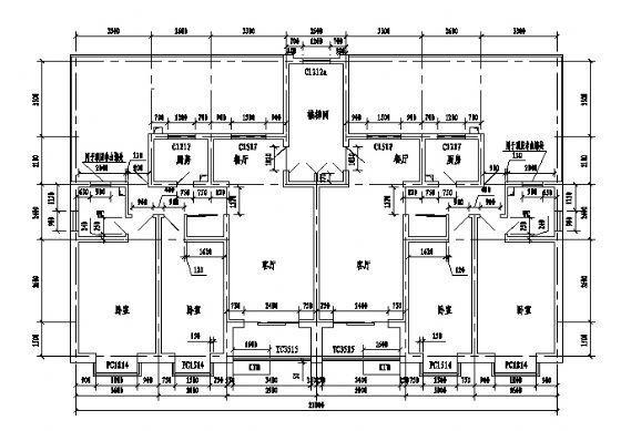 一梯两户户型2型6层