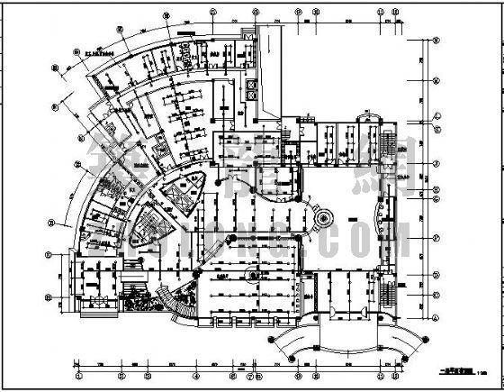 某电力培训中心大楼消防设计图
