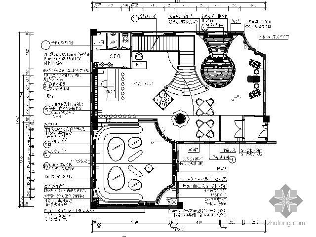 豪华国际会所桑拿豪华房施工图Ⅱ(含效果)