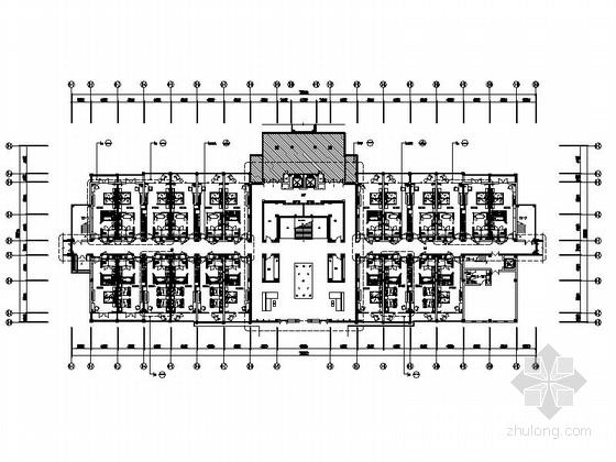 [海南]皇家园林五星级酒店公共空间装饰施工图