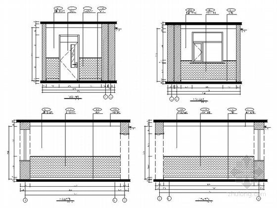 [原创]现代风格小学室内设计装修施工图(含高清效果 推荐!)广播室立面图
