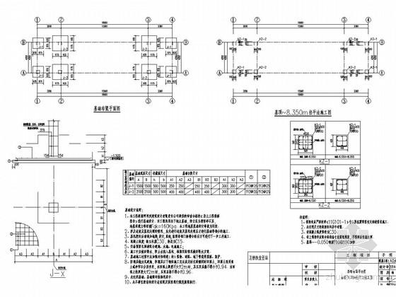 两层框架结构监管中心附属工程(入口大门)结构施工图