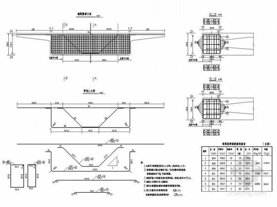分离式立交连续箱梁桥横隔梁构造图