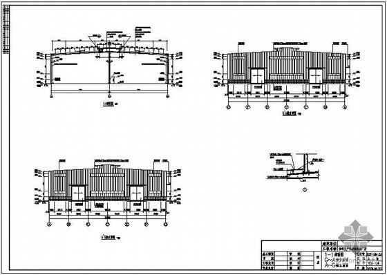 二层厂房建筑结构图资料下载-隆昌某2×18米跨厂房建筑结构图