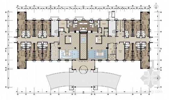 [内蒙古]绿色环保型温泉度假酒店室内设计方案图