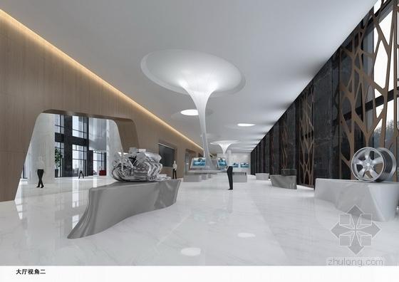 [杭州]国内知名汽车品牌办公大厦室内装修设计方案(含高清效果图)-[杭州]国内知名汽车品牌办公大厦室内装修设计方案效果图