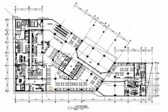 [深圳]市中心繁华地带五星级商务酒店自助餐厅施工图(含效果图)
