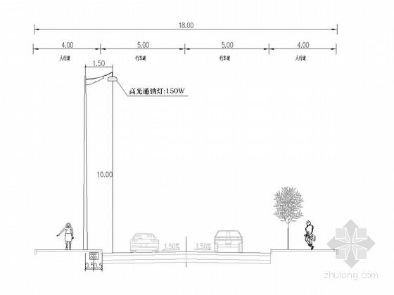 [重庆]单洞双向双车道隧道照明施工图15张(高压钠灯)