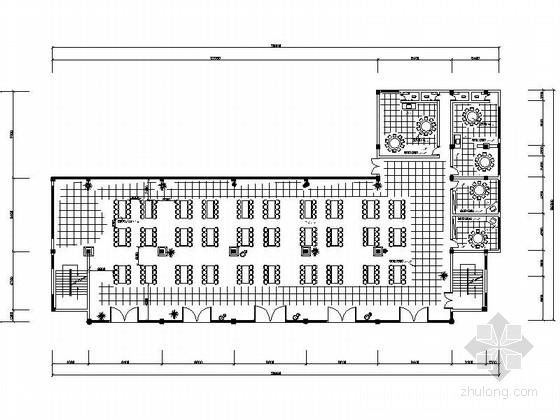[广西]大学食堂双层室内装修CAD施工图(含效果)