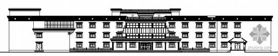 某三层学生宿舍(L形)建筑设计施工图