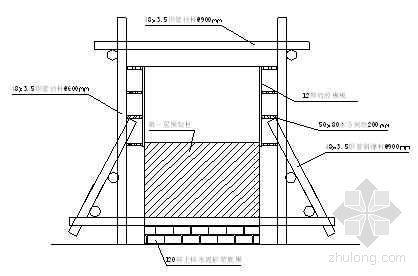 预制柱二层叠浇支模示意图