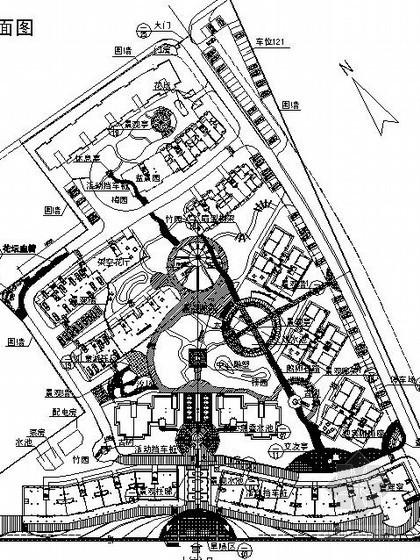 某休闲娱乐广场设计规划图