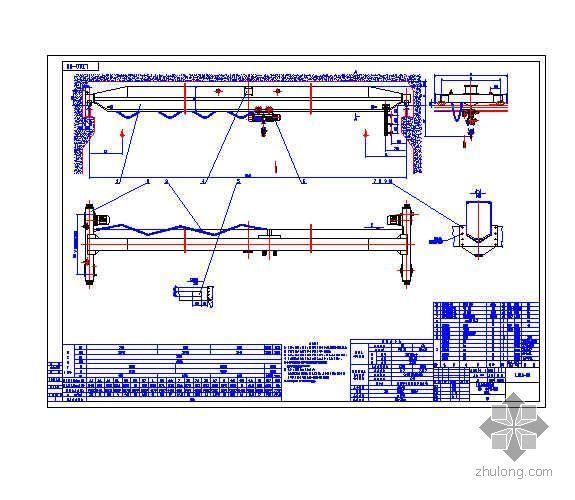 工厂车间用LD型电动单梁起重机总图(1~10t)