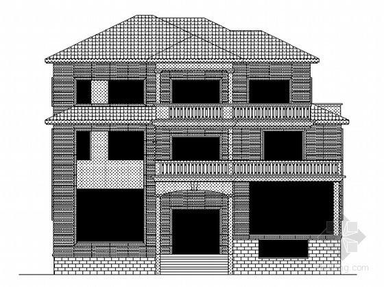 某三层别墅石材幕墙设计方案
