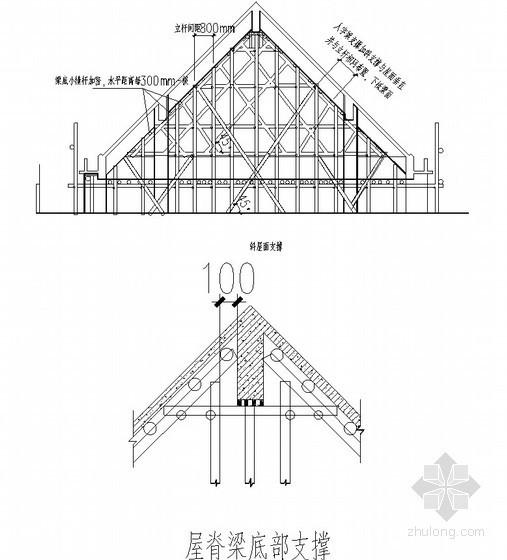 坡屋面施工方案(坡度45°梁模板计算 柱模板计算 板模板计算)