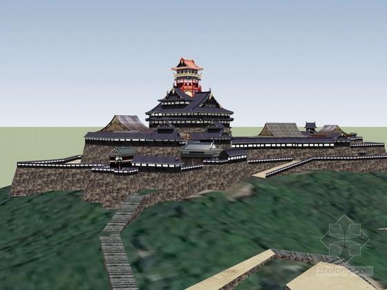 日本古建筑sketchup模型下载