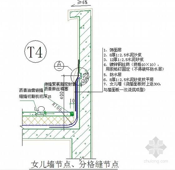 建筑工程防水防裂体系施工做法(附节点详图)