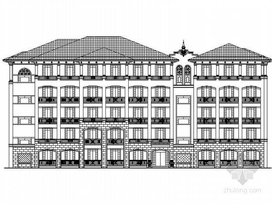 [江苏]某小学五层欧式宿舍建筑施工图