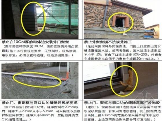 建筑企业住宅楼防渗漏节点做法指导(屋面 砌体 门窗 节点做法详图)